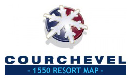 Courchevel 1550 Resort Map